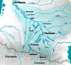 Carte Fleuve Bordeaux.Le Bassin Versant De La Garonne Smeag